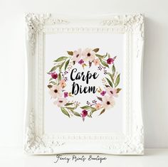 Carpe Diem Carpe Diem PrintQuote Posters by Fancy Prints Boutique