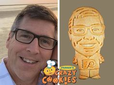 It's easy to delight and surprise your husband at his birthday party with custom cookies baked for you by Parker's Crazy Cookies. They're a snap to order and always arrive, beautifully packaged and right on time!