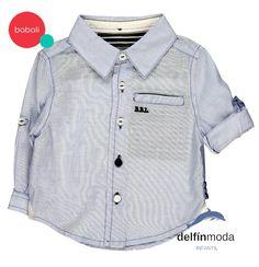 ff0b46a7f3cff Camisa de bebe BOBOLI popelin manga larga azul