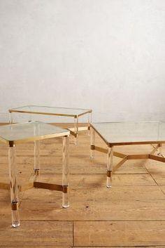 Oscarine Lucite Coffee Table, Square - anthropologie.com