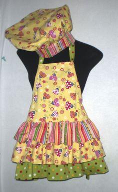 Free+Chef+Apron+Pattern | Child Apron And Chef Hat Pattern