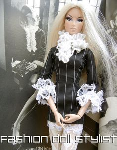 """How to make fancy sleeves. """"Return to Camelot"""" on Fashiondollstylist.blogspot.com"""