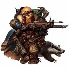 m Dwarf Ranger Med Armor Crossbow Cloak Badger Fantasy Portraits, Character Portraits, Fantasy Artwork, Character Art, Character Ideas, Character Inspiration, Character Concept, Concept Art, Fantasy Dwarf