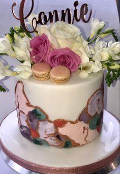 Watercolor Pallet, Vintage Cupcake, Christening, Birthday Cake, Desserts, Food, Tailgate Desserts, Deserts, Birthday Cakes