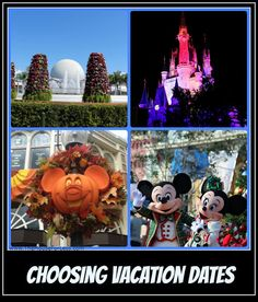 Choosing Dates #Disney World #TravelDates