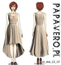 Free dress pattern :: Papavero in Poland. Post is in Polish, but photos of the finished garment look good and it looks like a fun project dress. Sewing Patterns Free, Free Sewing, Clothing Patterns, Dress Patterns, Free Pattern, Diy Clothing, Sewing Clothes, Fashion Sewing, Diy Fashion