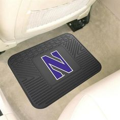 Northwestern University One Car Auto Rear Rubber Floor Mat