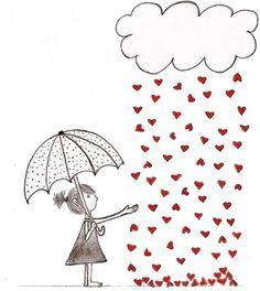 Chuva de coração
