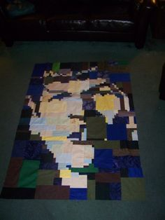 Amazing quilt but the question has to be asked is that Leonard Nimoy or Zachary Quinto?