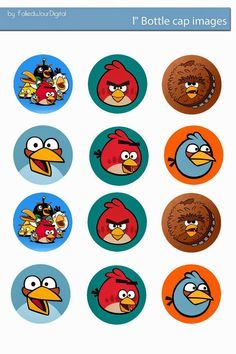 I& sharing free digital bottle cap images I created Bottle Cap Jewelry, Bottle Cap Necklace, Bottle Cap Art, Bottle Cap Crafts, Bottle Cap Images, Angry Birds Cupcakes, Festa Angry Birds, Picture Magnets, Doilies