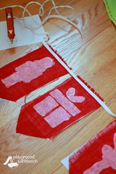 Nutcracker Decor - DIY Holiday Banner Assembling Pennants