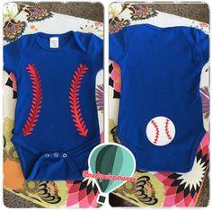 Baby boy baseball onesie