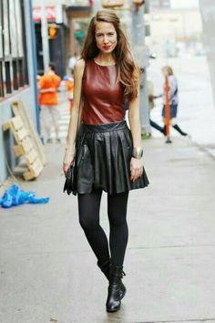 Leather street fashion