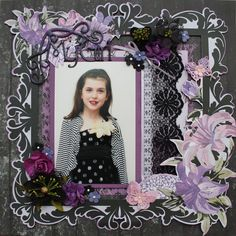 Violet Crush Layout Created by Carol Barron www.paperroses.com.au Scrapbook Templates, Scrapbook Layouts, Scrapbook Pages, Scrapbooking, Paper Roses, Art Journaling, Card Ideas, Give It To Me, Mixed Media