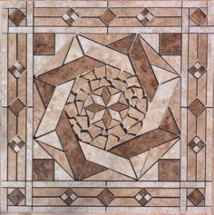 "32"" x 32"" Tile Medallion - Daltile's Heathland & Fidenza tile series #Daltile"