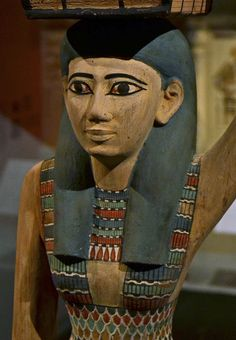 Egypt - Statue - mid 20c bce - Meketre tomb offering bearer - detail by jondresner,