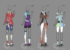 Some Outfit Adopts #6 - sold by Nahemii-san.deviantart.com on @deviantART
