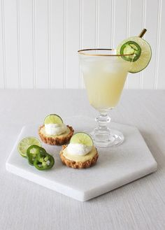 Jalapeño Infused Margaritas and Key Lime Tarts | http://heyweddinglady.com/jalapeno-margaritas-key-lime-tarts/
