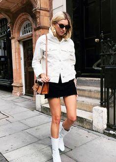 Influencers wearing high street: Mango boots