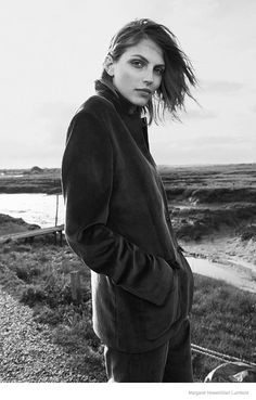 Karlina Caune Wears Outerwear in Margaret Howell Fall 2014 Campaign - Glen Luchford