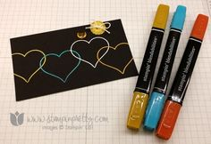 Stampin up stamping pretty groovy kind of love sweetheart punch blendabilities markers card ideas embossing