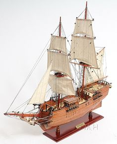 "CaptJimsCargo - Brig Lady Washington Model Tall Pirate Ship 25"" Boat, (http://www.captjimscargo.com/model-pirate-ships/brig-lady-washington-model-tall-pirate-ship-25-boat/) The Lady Washington replica was made famous when Jack Sparrow hijacked her in the 1st ""Pirates Of The Caribbean"" Disney film!"