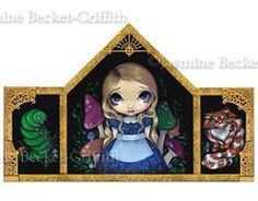 Art: Alice in Wonderland:  Alice and Friends by Artist Jasmine Ann Becket-Griffith