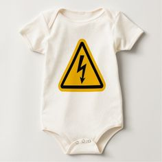 Electric Logo Baby Jumper by Bryon and Tiff Design on Zazzle @zazzle #baby #clothes #jumper #apparel #fashion #fun #sweet #awesome #buy #shop #sale #cute #toddler #newborn #shower #gift #babyshower #idea #giftidea #mom #expecting #children #cool #shirt #tee #t-shirt #tshirt