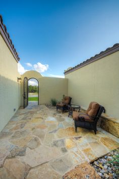 Entryway of St Jude Dream Home designed by Phil Kean. Dwelling C by WayCool Homes #philkean  #modernhousedesign