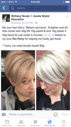 By another stylist Hair Color And Cut, Cool Hair Color, Aveda Hair Color, Platinum Hair Color, Creative Hair Color, Silver Blonde Hair, Hair Color Formulas, Hair Addiction, Colored Hair Tips