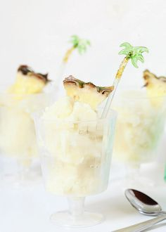 Did I mention this Piña Colada sorbet is spiked with award-winning Flor de Caña 7 Rum...
