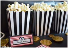 Popcorn at a Pirate Party #pirate #party// Pirate Booty