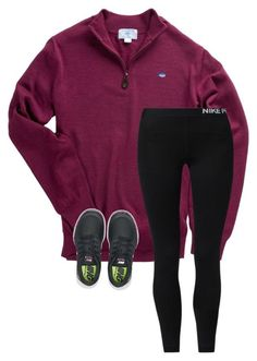 """•today I figure out if I made the volleyball team•"" by simply-preppy-girl ❤ liked on Polyvore featuring Southern Tide and NIKE"