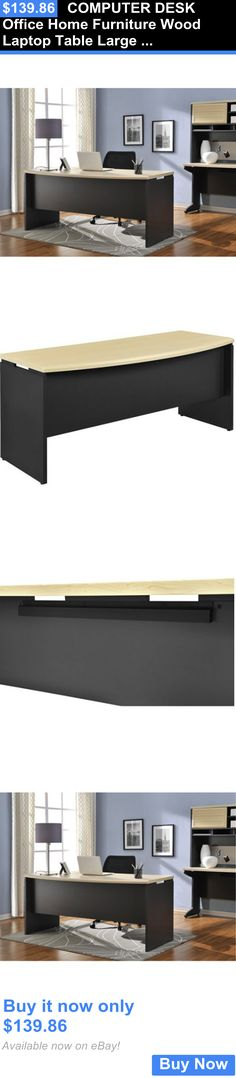 Office Furniture: Computer Desk Office Home Furniture Wood Laptop Table Large Surface Workstation BUY IT NOW ONLY: $139.86