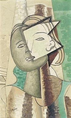 View PORTRAIT DE FEMME By Georges Braque; oil on canvas; Access more artwork lots and estimated & realized auction prices on MutualArt. Georges Braque Cubism, Giacometti, Picasso And Braque, Figurative Kunst, Cubism Art, Art Moderne, Mondrian, Kandinsky, French Art