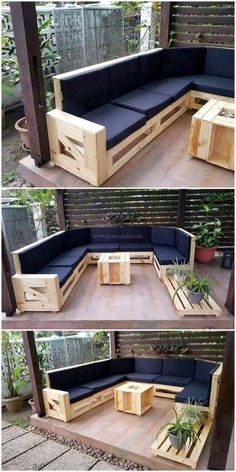 How to use wooden pallets for the fantastic look of your home - . Diy palettenmöbel - DIY palette creations, How to use wooden pallets for the fantastic look of your home Ellise M. Diy palettenmöbel Whilst historic in idea, the pa. Pallet Garden Furniture, Diy Furniture Couch, Diy Outdoor Furniture, Furniture Projects, Modern Furniture, Cheap Furniture, Rustic Furniture, Palette Furniture, Furniture Dolly