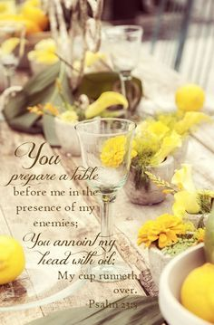Psalm 23 5 He Prepares A Table For Me In The Presence Of My