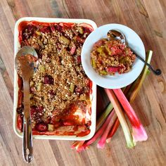 Strawberry Rhubarb Oatmeal Jumble - Chef Michael Smith