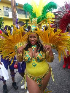 Carnival gal plays with herself