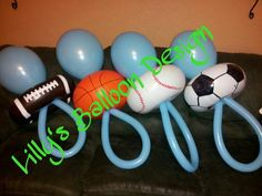 Baby Shower Sports Theme Balloon Pacifiers