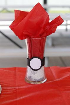 Pokemon Party Decoration. Cute idea for a Pokemon themed birthday party.