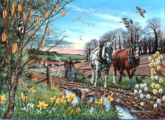 House of Puzzles Final Furrow 500 Unusual Pieces Jigsaw Puzzle 2012 Complete for sale online Farm Pictures, Writing Pictures, Best Jigsaw, Farm Paintings, Farm Art, Picture Story, Country Art, Nature Scenes, Pet Portraits
