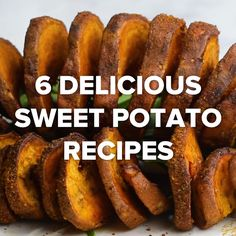 6 Delicious Sweet Potato Recipes // #potato #sweetpotato #fries #snacks #appetizer #food #recipes