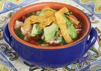 Chicken Tortilla Soup...add black beans and corn. Can put into crockpot
