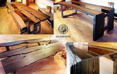 https://flic.kr/p/tuEsE2 | table made of ancient bog oak, age of wood 1600 yearsold (carbon date C14) luxury design, (Copy)