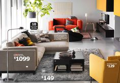 Nockeby Loveseat with Chaise - IKEA Catalog 2015 -- wasn't very comfortable
