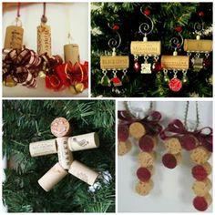 Χριστουγεννιάτικα στολίδια από φελους κρασιού για το δέντρο σας - diy christmas ornaments