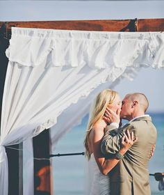 The couple's first kiss as husband and wife!