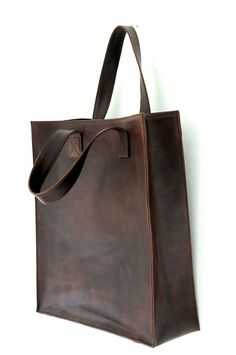 MINIMO. Leather bag / shopper tote / simple leather bag by BaliELF