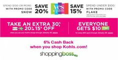Kohls Yes Pass 15-20% off! 6% Cash Back when you shop Kohls.com through ShoppingBoss.com
